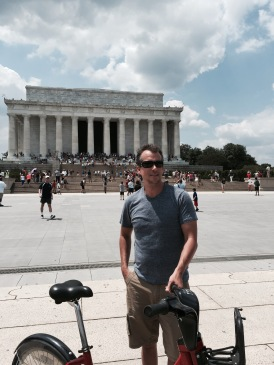 Washington DC: There are Capital Bikeshare Stations all along the National Mall. We were able to hit every memorial in less than 2 hours